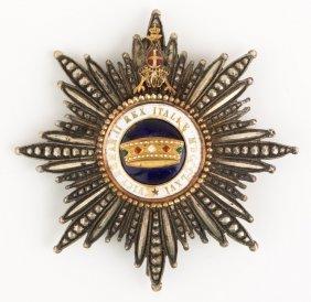 Italian Order Of The Crown Breast Star Badge