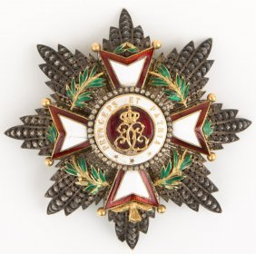 Monaco Order Of St Charles Breast Star Badge