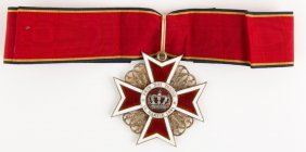 Romania Order Of The Crown Badge & Sash