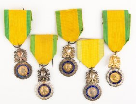French Military Medal Lot Of 5
