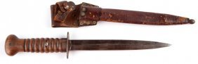 Wwi Wwii Dutch Fighting Knife With Scabbard
