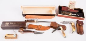 Lot Of Case And Schrade Knives