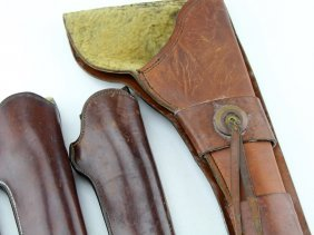 Lot Of 5 Vintage Leather Pistol Holsters