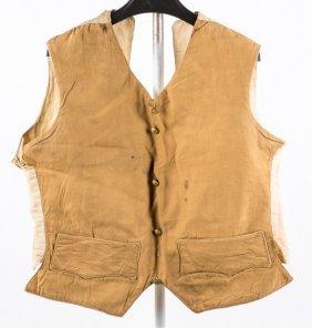Us Spanish American War Rare Tropical Khaki Vest