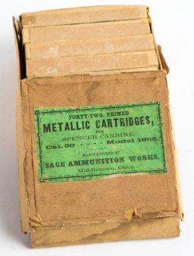 Full Box 50 Cal Spencer Carbine Sage Ammunition