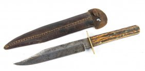 Moulton Brothers British Stag Handle Knife