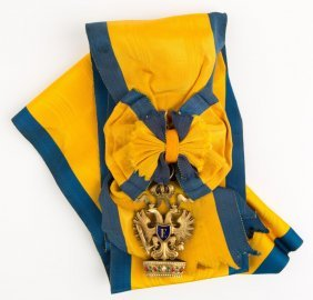 Austria Order Of The Iron Crown With Large Sash