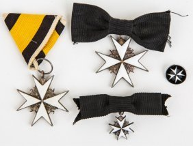 Order Of Knights Hospitaller Medals And Pin