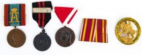 Mixed Medals & Badge Lot Of 5