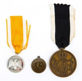 Prussian Medal Lot Of 3