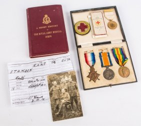 Wwi Uk Medal Archive E.w. Standen Royal Medic Corp