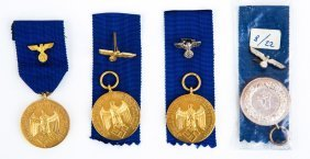 Wwii German Armed Forces Service Medal Lot Of 4