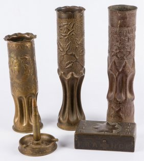 Wwi Trench Art Lot