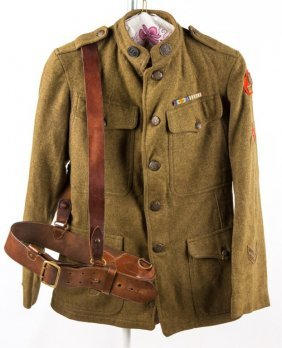 Wwi Us Army 332nd Inf Regiment Jacket & Belt