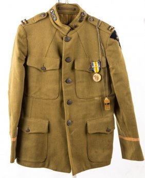 Wwi Us District Of Paris Chemical Corps Jacket