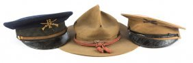 Early 20th Century Us Army Cap Lot Of 3
