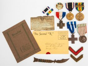 Wwi Medal Archive Of Cp Bridgman 332nd Infantry