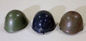 Wwii Italian Helmet Lot Of 3