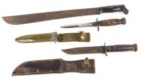 Wwiii Us Bayonet & Knife Lot Lot