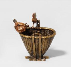 Hahn Und Hennen Wiener Bronze, 2.hlfte 20.jh.