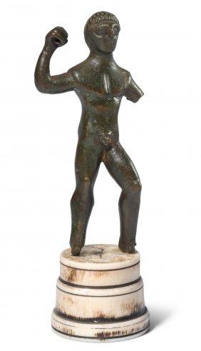 *statuette Des Herakles Etruskisch, 4.–3.jh. V. Chr.