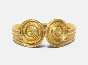 Lalaounis Armspange Griechenland. 750 Gelbgold. An Die