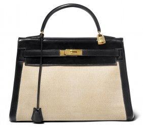 """Hermès, Handtasche """"kelly"""" Gemarkt """"hermès Paris"""". Aus"""