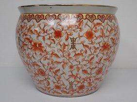 Very Fine Hand Painted Chinese Imari Style Planter Pot