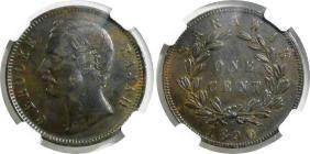 Sarawak, 1890h, Copper Cent. Ngc Xf 45 Bn