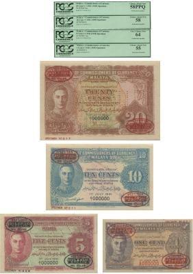 Malaya, 1941, Specimen Notes
