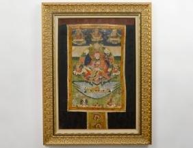 Tibetan Painted Fabric Thanka
