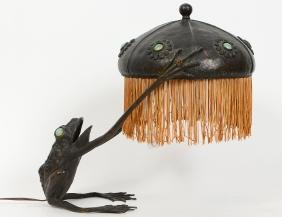 Art Nouveau Bronze Frog-from Lamp