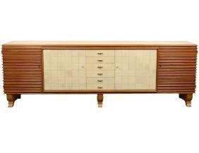 Fine Geo Ponti Palissander & Parchment Side Cabinet