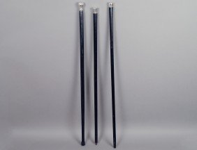 GROUP OF THREE WALKING CANES