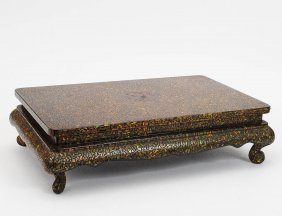 INLAID LACQUER TABLE TOP STAND