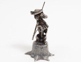 Soviet Union Sterling Silver Figure Of A Dog