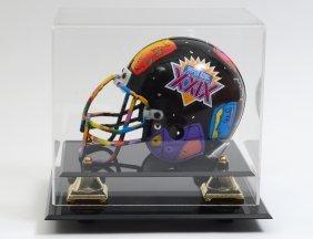 Peter Max Painted Miniature Football Helmet