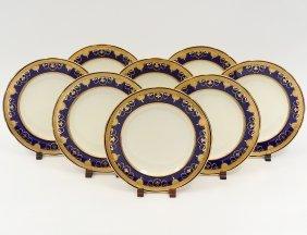 Set Of Eight Mintons Porcelain Service Plates