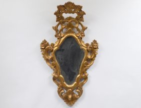 Rococo Style Carved And Giltwood Mirror