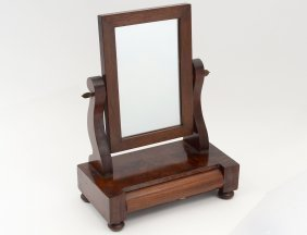 Late Victorian Mahogany Veneered Shaving Mirror