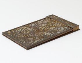 """Tiffany Studios Bronze """"pine Needles"""" Note Pad"""