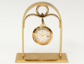 Bulova Accutron Fourteen Karat Gold Filled Hanging Desk