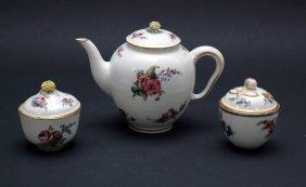 Six Pieces Antique Sevres Porcelain