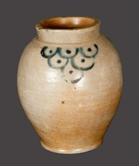 Fine Ovoid Decorated Stoneware Jar Attributed To Clarks