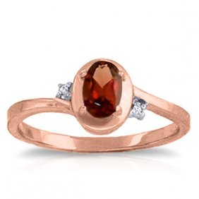 14k Rose Gold Atlantis Garnet Diamond Ring