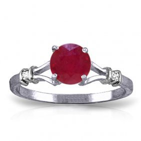 1.02 Carat Platinum Plated Sterling Silver Cathy Ruby D