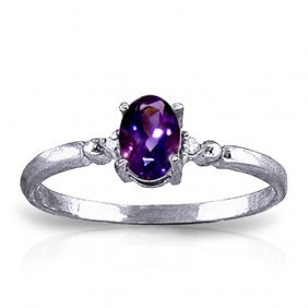 0.46 Ctw Platinum Plated Sterling Silver Young Love Ame