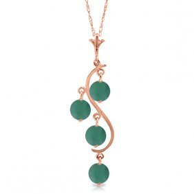 14k Rose Gold House Of Love Emerald Necklace