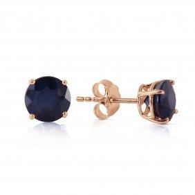 14k Rose Gold Petite Sapphire Stud Earrings