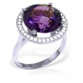 6.2 Ctw Platinum Plated Sterling Silver Ring Natural Di